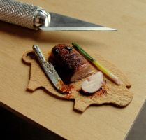 1:12 Scale Char Siu (BBQ Pork) by fairchildart