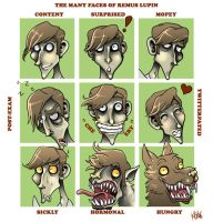 The Many Faces of Remus Lupin by Buuya