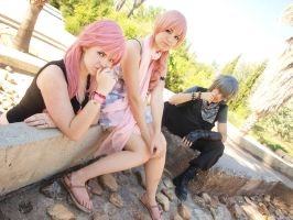 Lightning,Serah and Noctis by McLeea