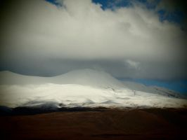 snow capped mountain by lauren-anna17