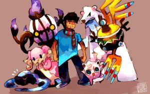 My pokemon team by VEKTTOR