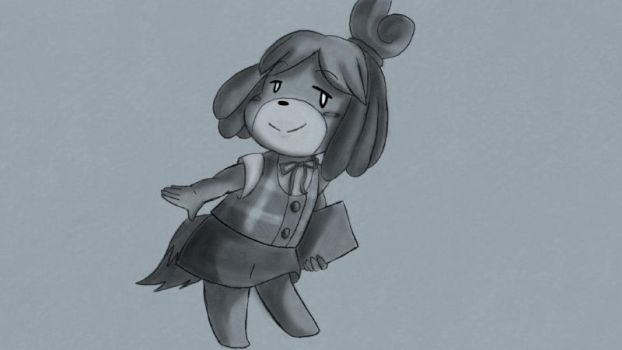 Request on Miiverse- Isabelle? Never drawn her. by ByThePowerOfDUSKULL
