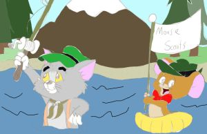Little Tom n Jerry Camping by ThrillingRaccoon