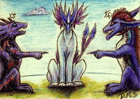 ATC: Crazy little draggies by ZeitgeistDragon