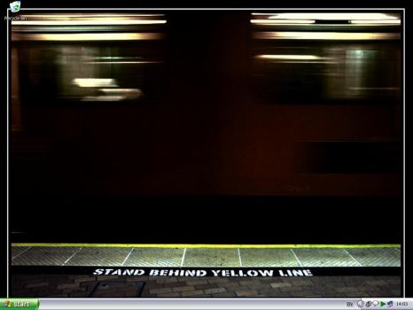 Stand Behind The Yellow Line by pHuturaTica