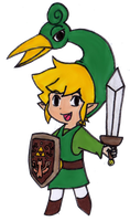 Chibi Link - The Minish Cap by EasterEgg23