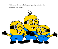 Minions became 2nd highest-grossing animated film by ElMarcosLuckydel96