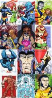 X-Men Archives sketch cards 4 by Leeahd