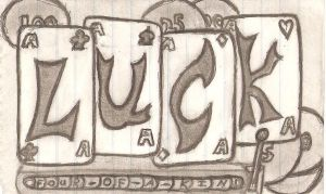 LUCK slot machine drawing by super-fat-man