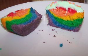 cupcakes of rainbow by Aerach