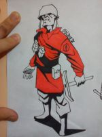 Red Soldier my style by FinoRaptor