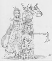 LoL - Shen, Kennen, and Akali by Daedrid