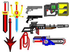 Weapon Set complete by psyclonius