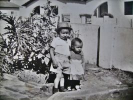 Me and my sister in 1962 by marcos941