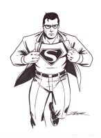 Patrick Zircher's Superman by ComicBookArtFiend