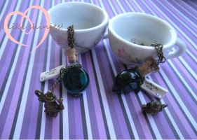 Tea for two bff necklaces by ilikeshiniesfakery