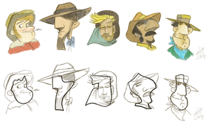 DAC March Shape Challenge - Cowboys by louisesaunders
