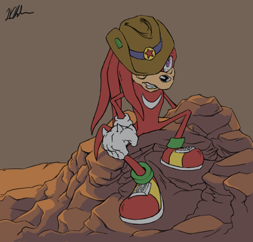 Sonic D Concept: Knuckles by charity236