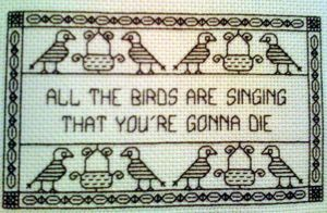 Dr. Horrible blackwork - Birds by beefranck