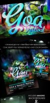 GOA TRANCE FLYER PSD by yuval10203