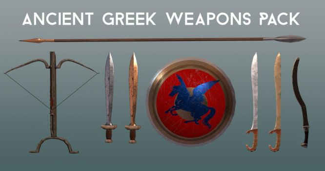 Ancient Greek Weapons Pack 3D models by Natnie