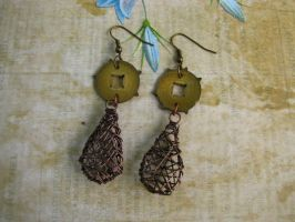 Steampunk Earrings with Vintage Grandfather Clock by bcainspirations