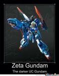 Mobile Suit Zeta Gundam Motivational Poster 2 by slyboyseth