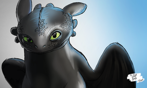 Toothless by DavidJamesArmsby