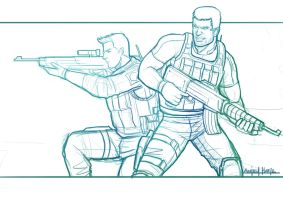 CHRIS REDFIELD AND PIERS NIVANS by amirulhafiz