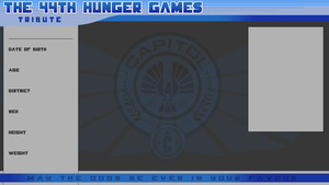 44th Hunger Games Application Sheet by Gamemaster59