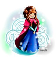 Anna, from Frozen by Lala-ink
