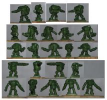 8mm tall Armoured Suits by Stripwalker