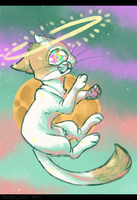 spacecat {+ speedpaint} by meteorcrash