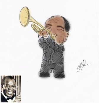Louis Armstrong by kustella