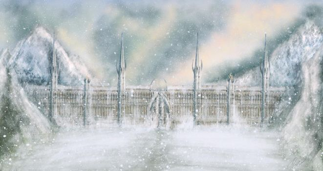 The White Gate of Fornost by Silinde-Ar-Feiniel