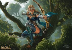 The Favored One - Elite Elven Archer by Jujusaurus