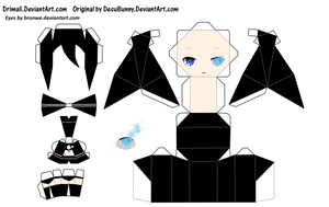 Black Rock Shooter papercraft template by Bronwe