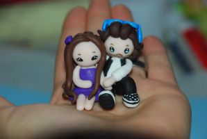 Fimo couple commish by Libellulina