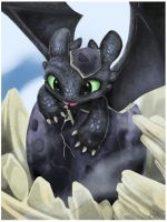Baby Toothless by xXNikleXx