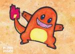 ACEO 054 - Charmander by PizzaFisch