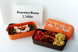 Red panda - Lunch box for a bento contest by Amygurumy