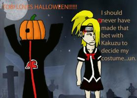 Tobi and Deidara Halloween by Zelda-rocks13