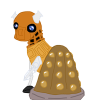 Dalek Pony by Puddle-jumper3