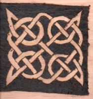 Pyrography:  Celtic Knot by naaxha