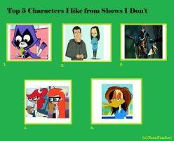 Characters I Like from Shows I Hate by SithVampireMaster27