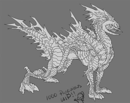 Draconic Ryder WIP by Phionnavar