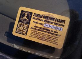 Zombie Hunting Permit by TacoAce