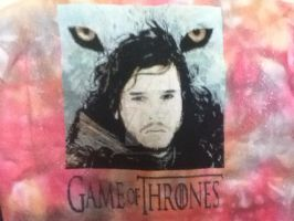 Game of Thrones Cross Stitch John Snow by Nevermind1977