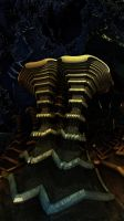 Golden Teacher Shroomz - Mandelbulb 3D fractal by schizo604