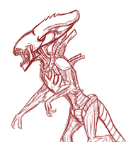 Spitter Alien W.I.P. by InvaderTraditore